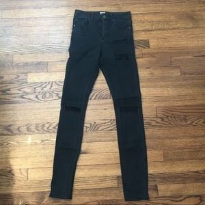 ASOS high waisted distressed skinny jeans - 26